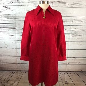 Adrianna Papell Safe Silk Red Dress Vintage Petite